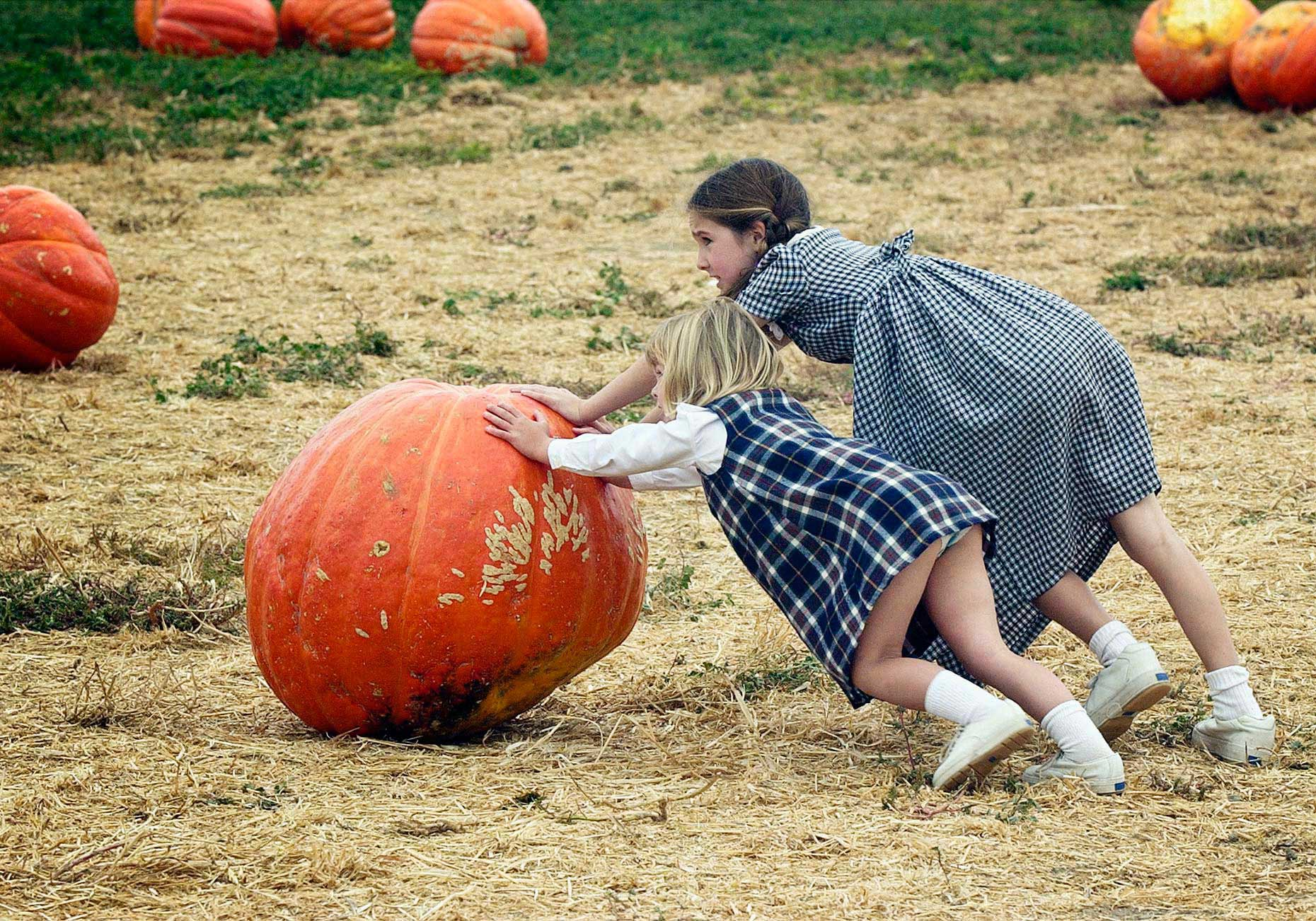 FEA_PhotoReporters_young-girls-at-pumpkin-patch_Santa-Paula_CA